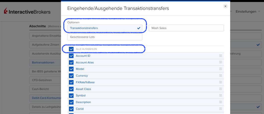 IB Einrichtung 0042 Transaktionstransfers