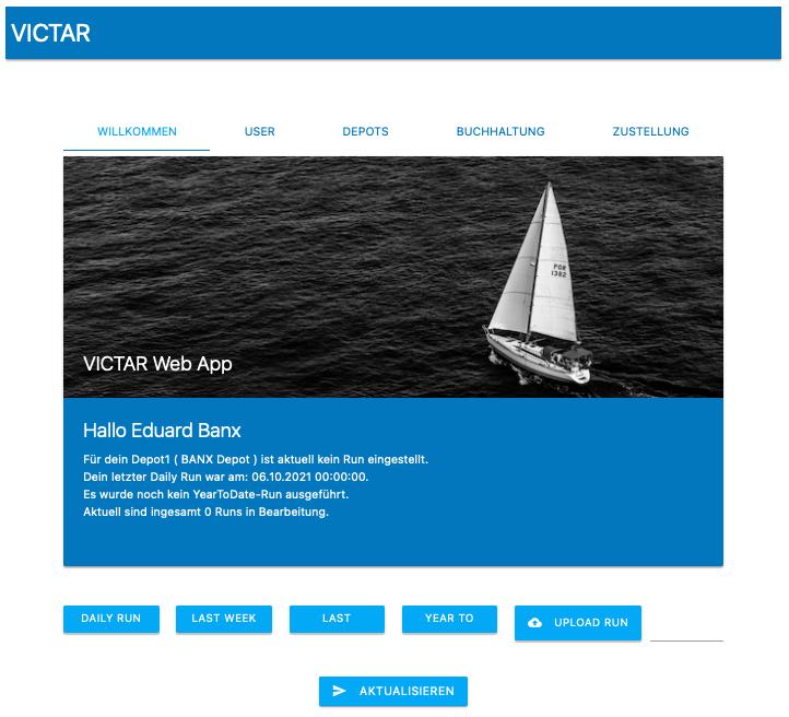 VICTAR Web App Willkommen 3